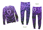 Purple Heart Tie Dyed Thermal Set