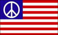 USA American PEACE FLAG