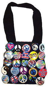 Purse with Peace Buttons (Badges, Pins)