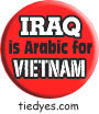 Iraq is Arabic for Vietnam Liberal Democratic Political Magnet (Badge, Pin)