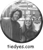 Hippie Clintons Hillary and Bill Clinton Liberal Democratic Political Button (Badge, Pin)