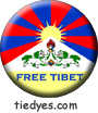 Free Tibet Liberal Democratic Political Button (Badge, Pin)