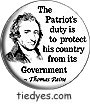 Patriot's Duty-Tom PaineRecovering Catholic Democratic Liberal Political Button (Badge, Pin)