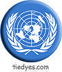 United Nations Flag Liberal Democratic Political Button (Badge, Pin)
