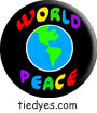 World Peace Pacifist Liberal Democratic Political Button (Badge, Pin)