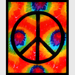 Tie Dyed Peace Tapestry