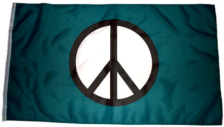 Green Peace Flag
